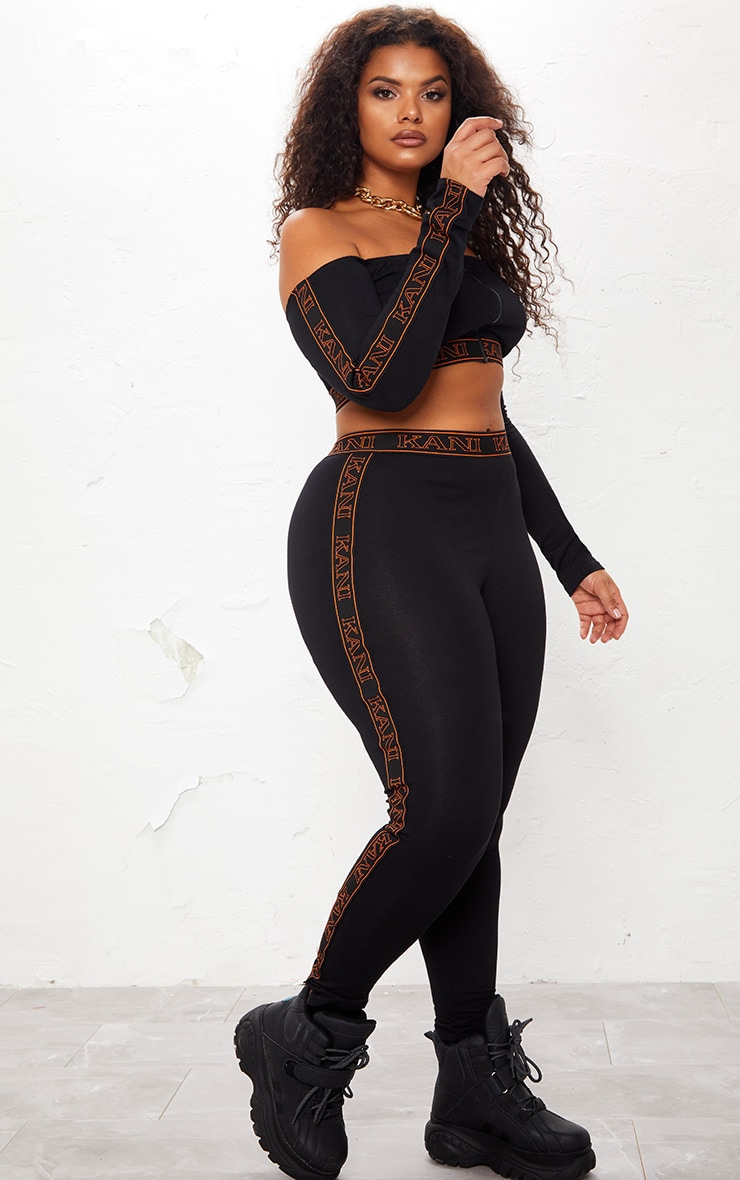 KARL KANI Black Tape Leggings 3