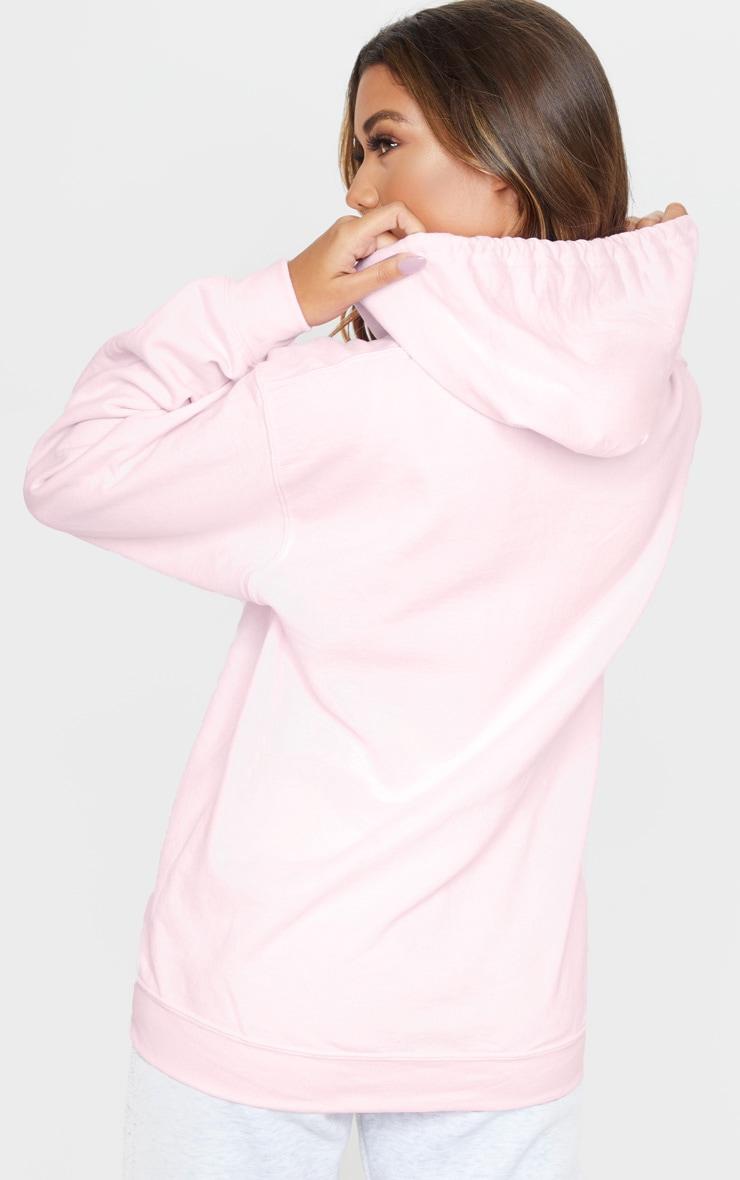 Baby Pink Fleece Zip Up Hoodie 2