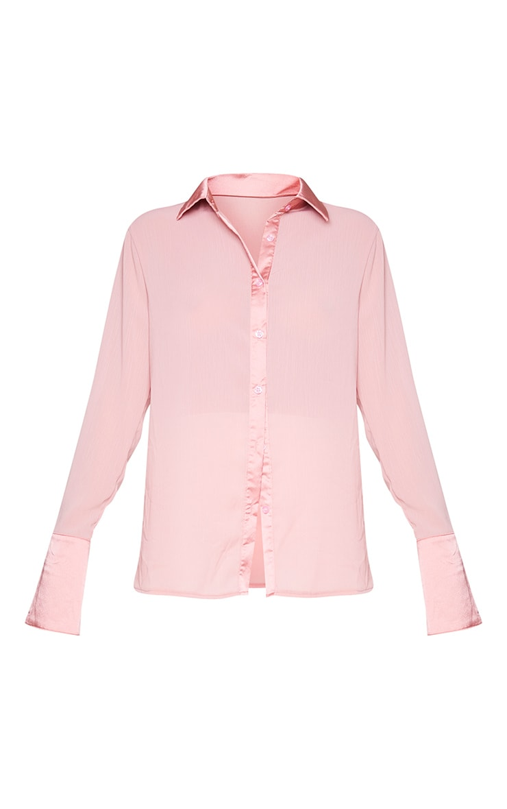 Rose Woven Crinkle Textured Shirt 5