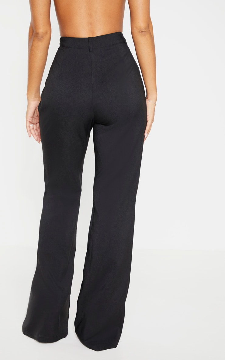 Black Flared Leg Trouser 4