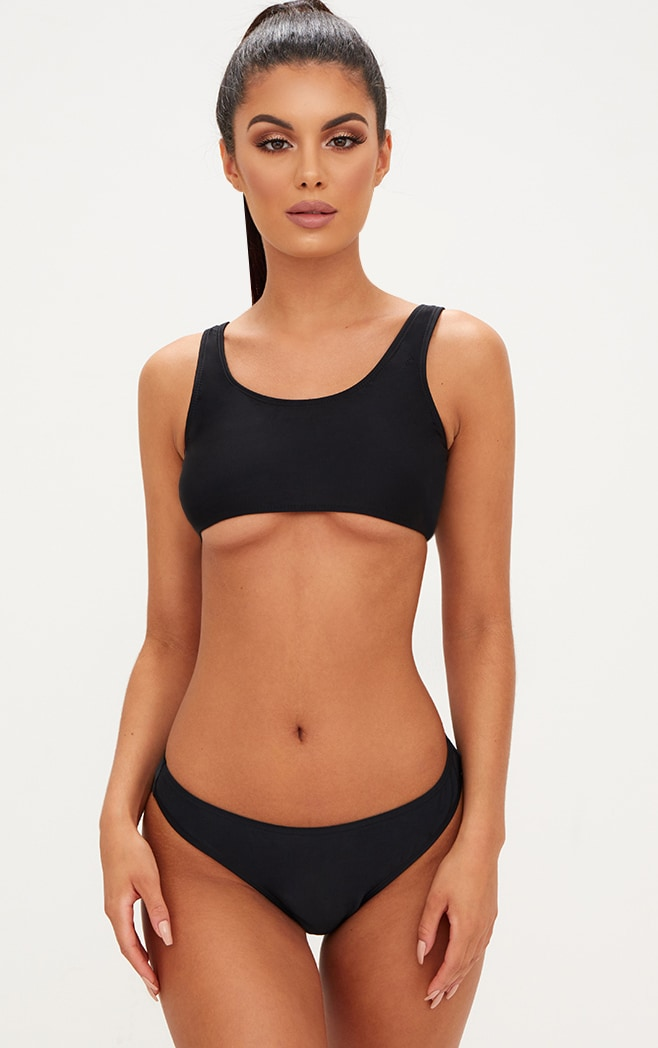 Mix & Match Black Under Bust Bikini Top 1