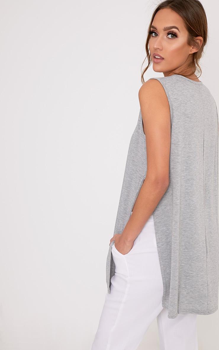 Basic Grey Side Split Vest 2
