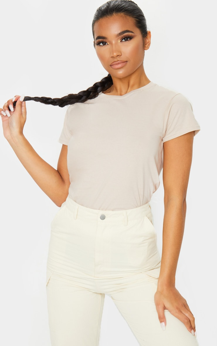 Nude Fitted T Shirt 1