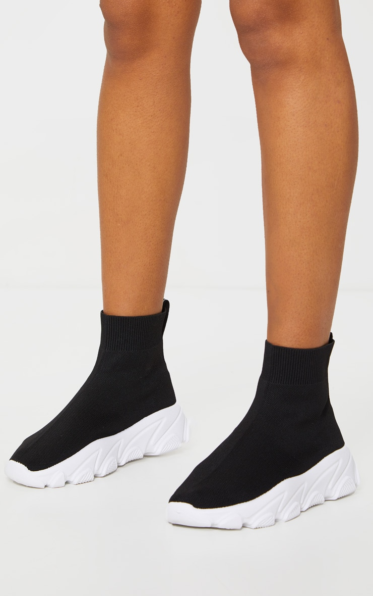 Black Sock Chunky Trainers 1
