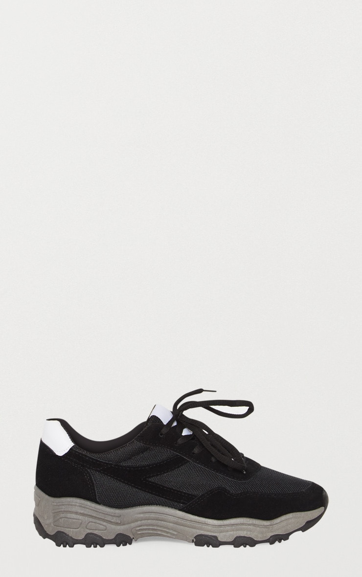 Black Chunky Contrast Trainers 2