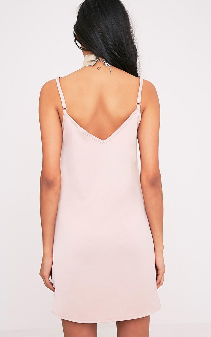 Ameera Nude Satin Slip Dress 2