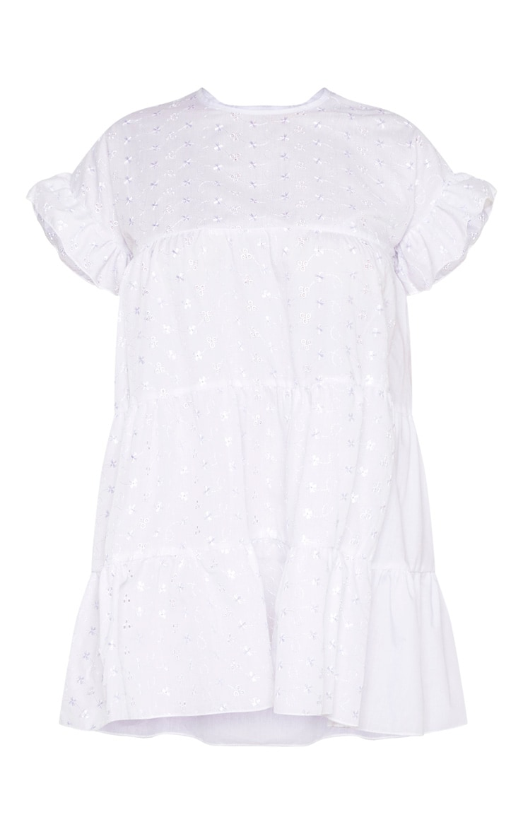 Petite White Broderie Anglaise Smock Dress 3