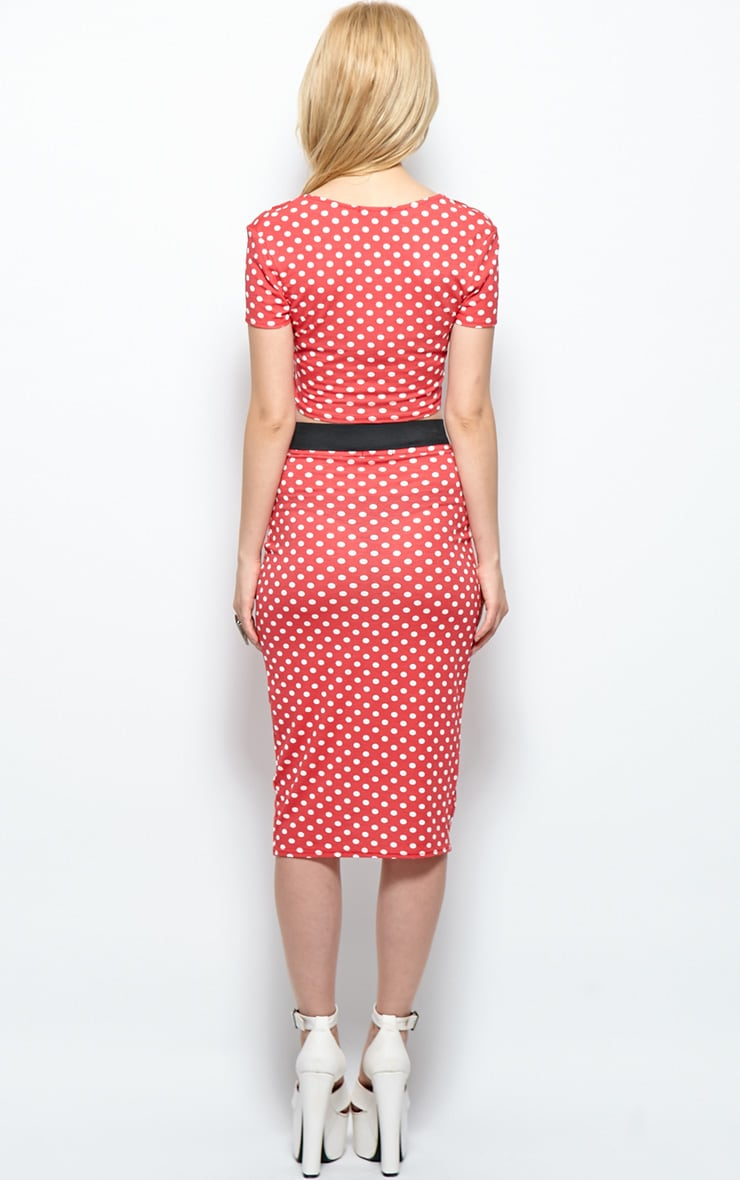 Gabriella Red Polka Dot Crop Top 2