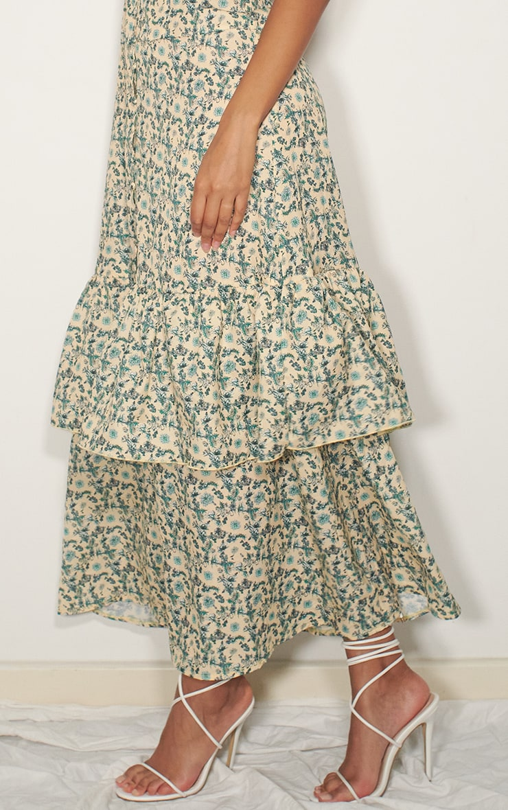 Multi Floral Drop Hem Maxi Dress 4