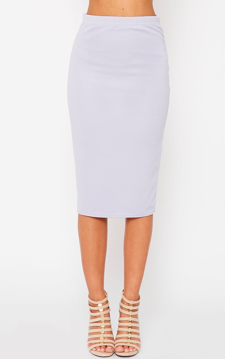 Britney Lilac Ribbed Midi Skirt 2
