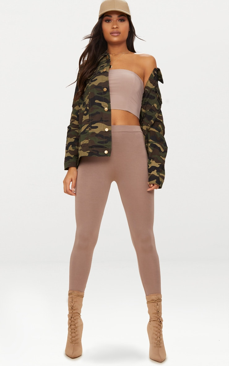 Camouflage Oversized Denim Jacket