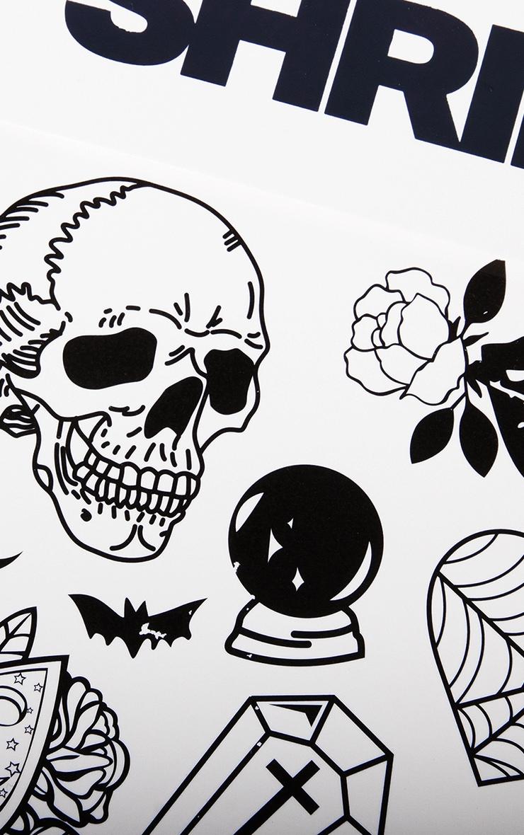 The Gypsy Shrine Halloween Skull Transfer Tattoo 3