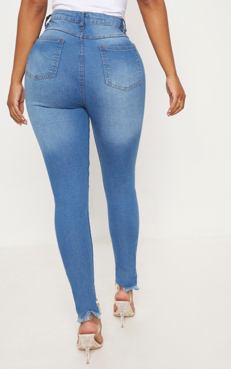 Shape Mid Wash High Waist Skinny Jeans 4