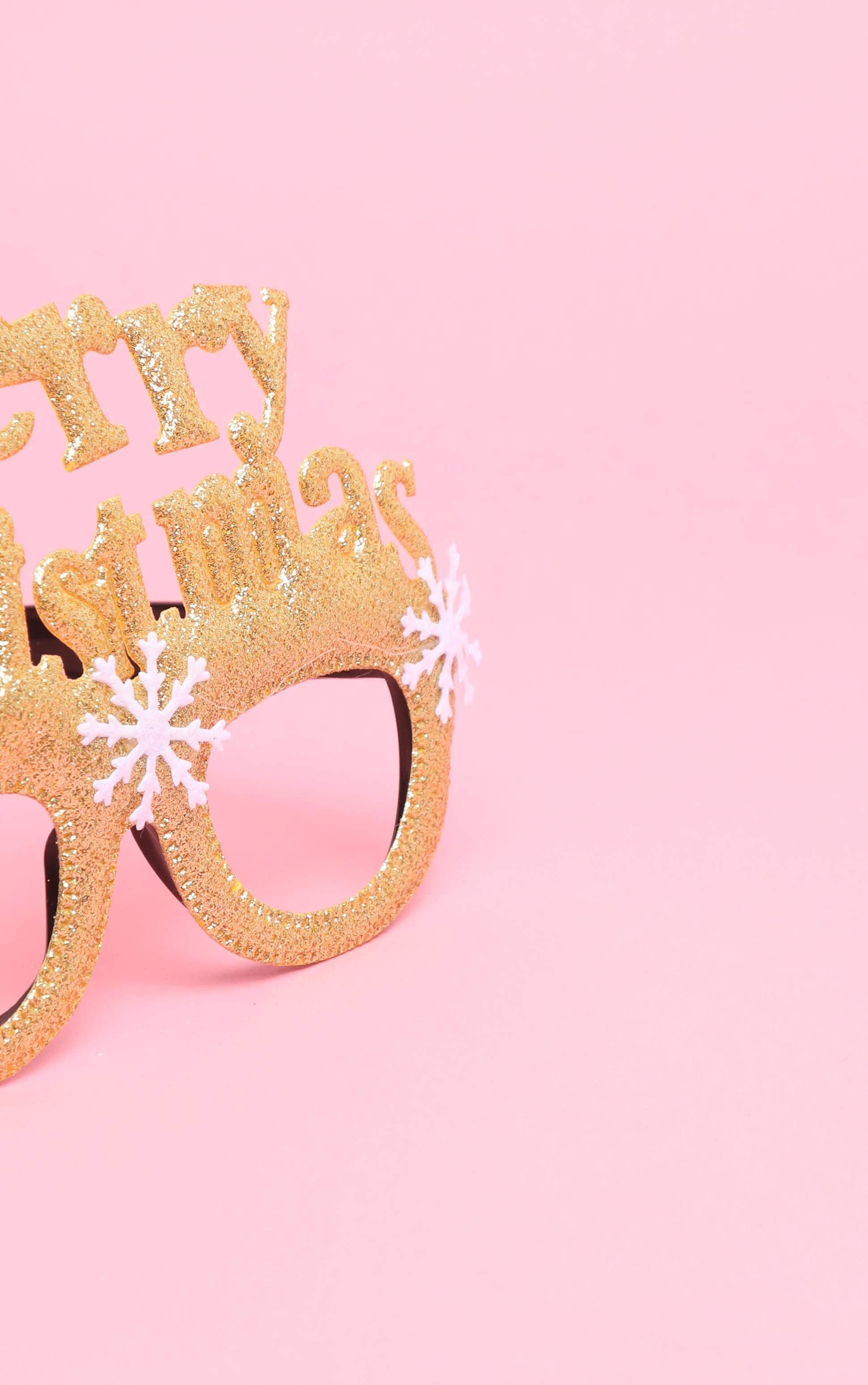 Gold Merry Christmas Novelty Glasses 4