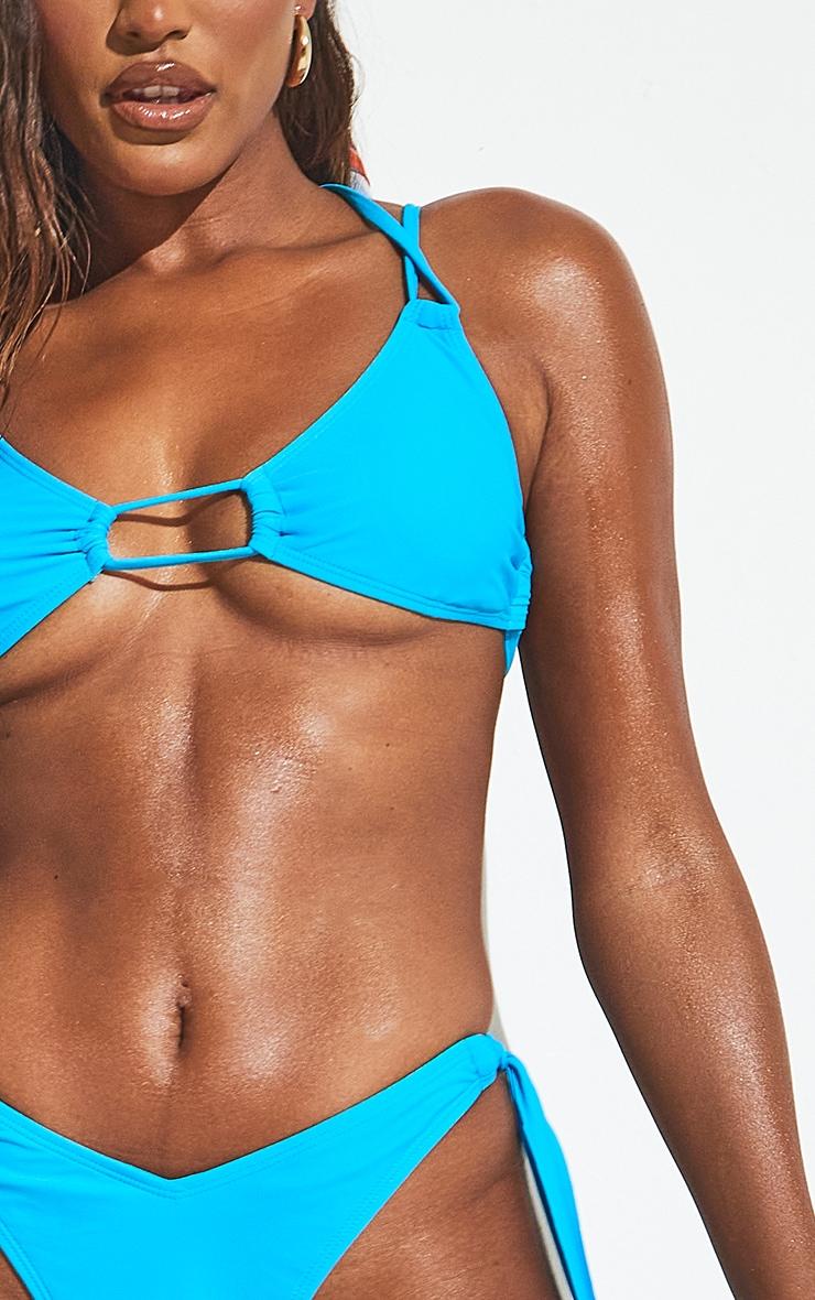 Blue Mini Tassel Tie Bikini Top 7