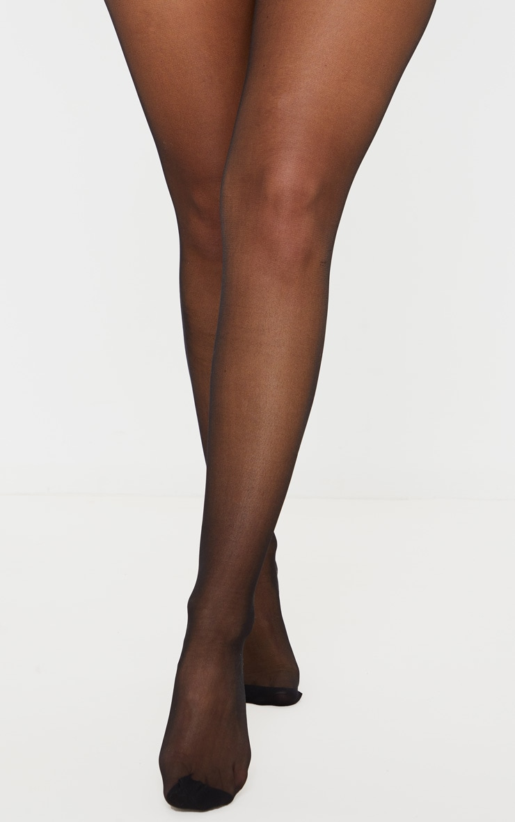 Black Ankle Bow Seam Support Tights 2