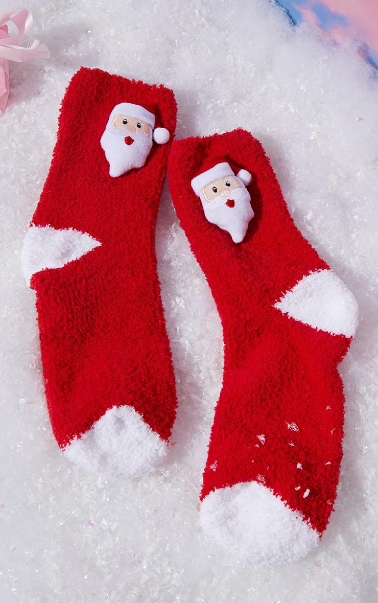 Red Santa Sleep Socks In A Box Gift 1