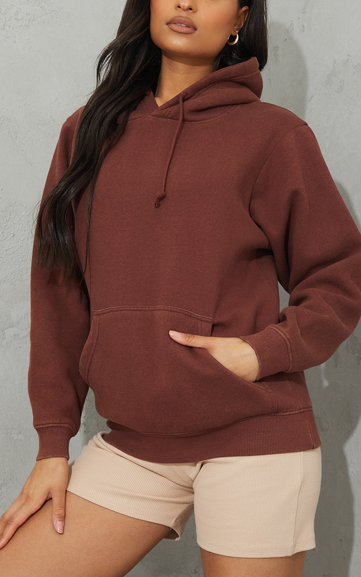 Chocolate Ultimate Oversized Washed Hoodie 4