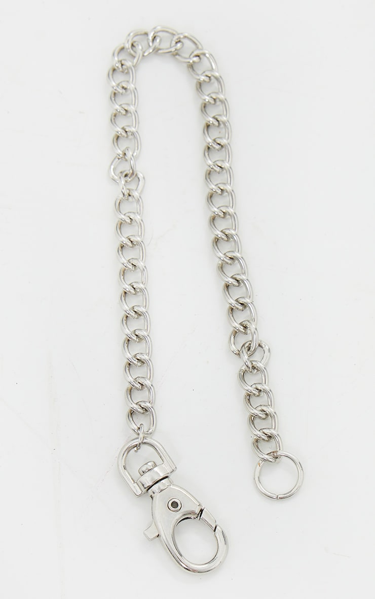 Silver Clip Chain Anklet 2