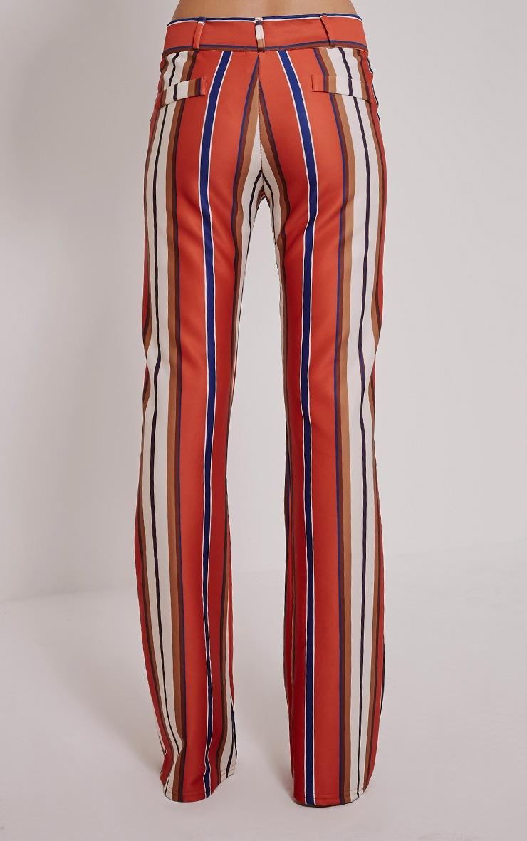 Zadia Orange Stripe Trousers 3