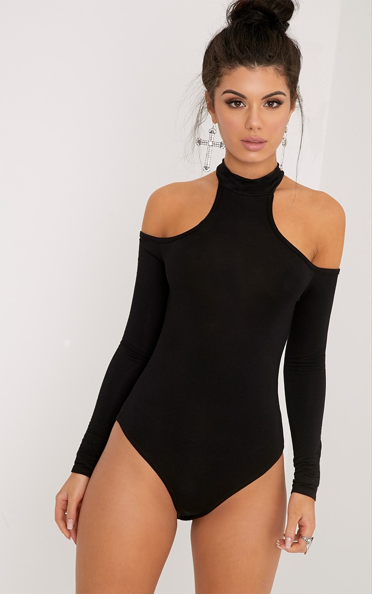 PRETTYLITTLETHING Hazel Cut Out Shoulder Bodysuit Best Selling Clearance Cheapest Buy Online Authentic 2018 Cheap Online PYznxx