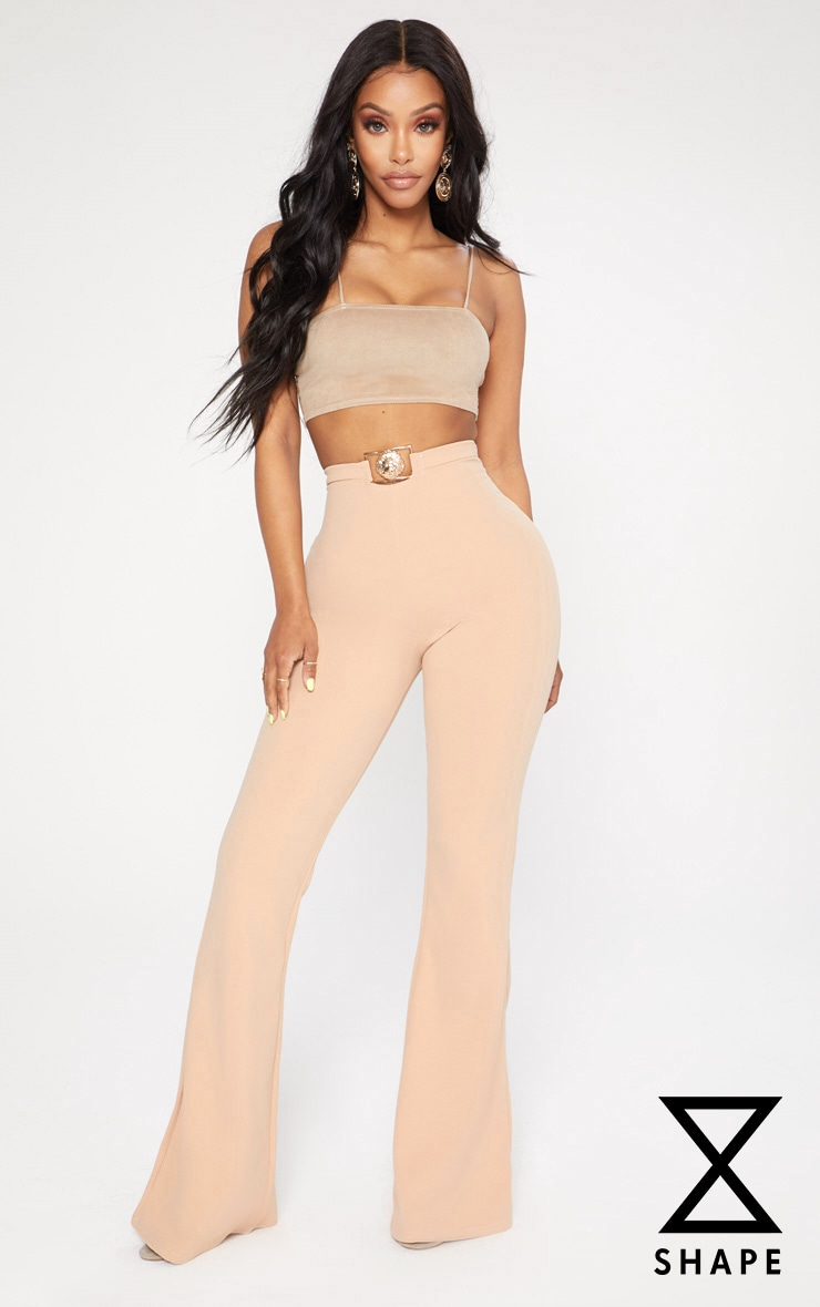 Shape Nude Lion Trim Wide Leg Trousers 1