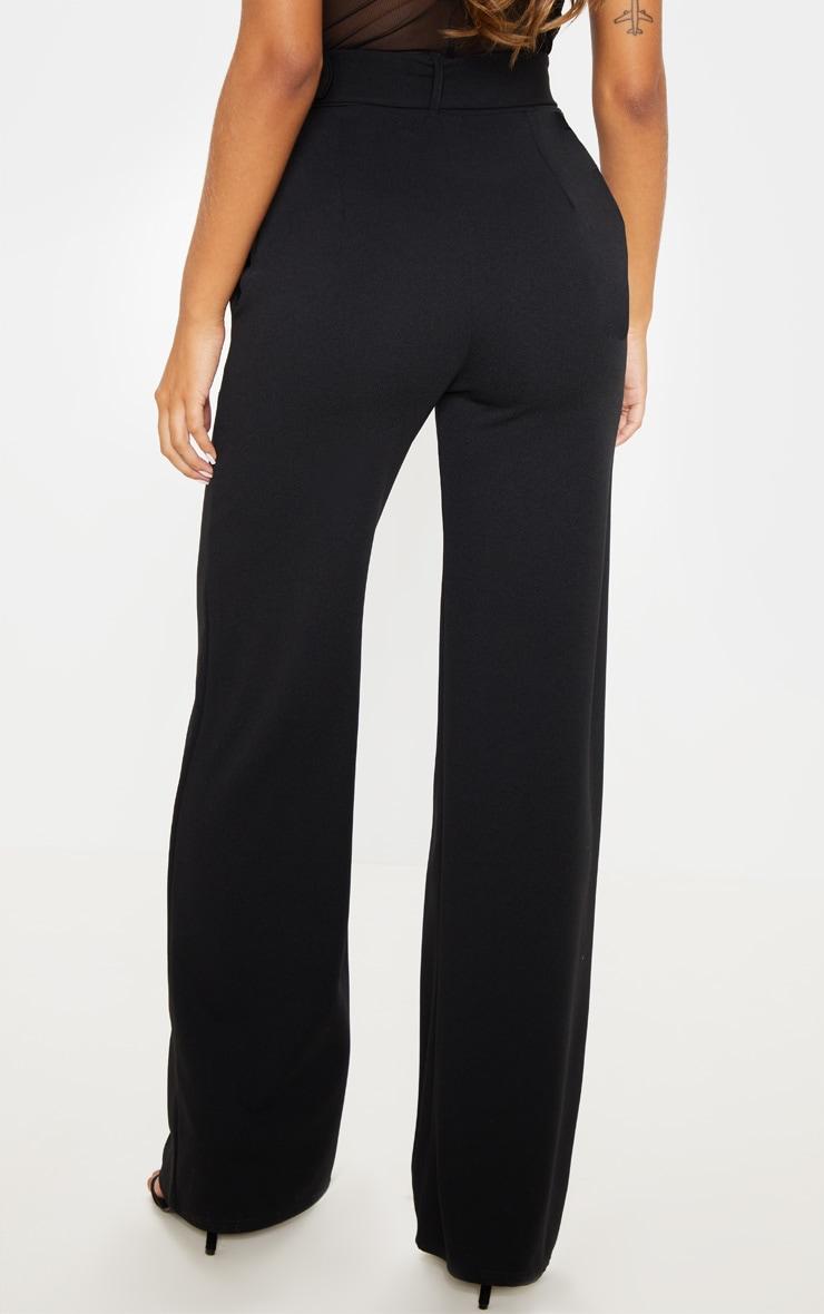 Black Belted Wide Leg Trouser 4