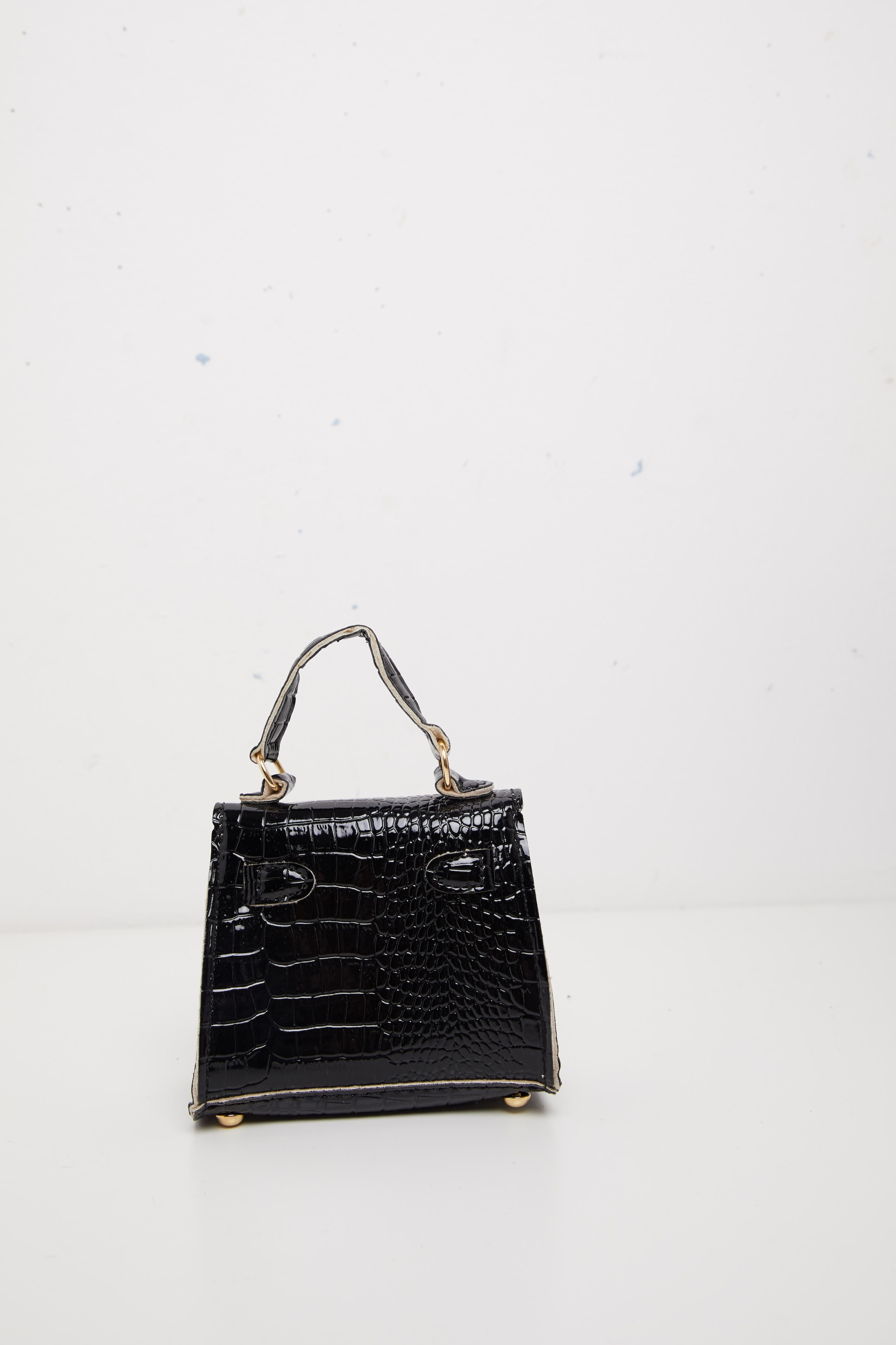 Black Croc Mini Bag 3