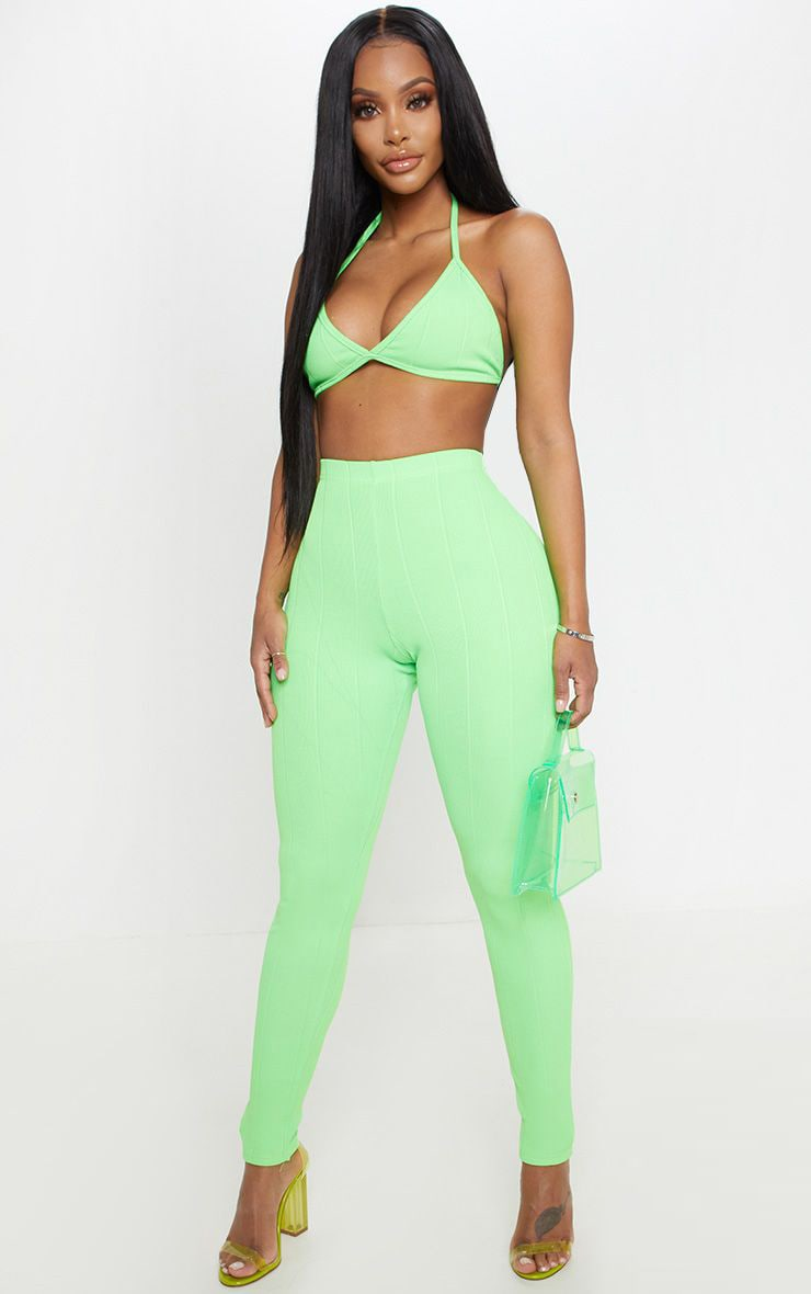 Shape Neon Lime Bandage Legging  1