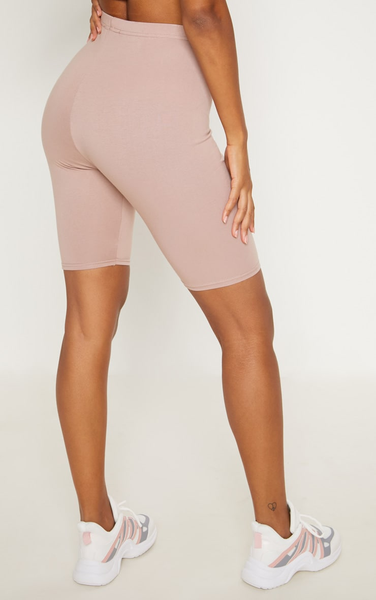 Dusty Pink Cotton Stretch Cycling Shorts  3