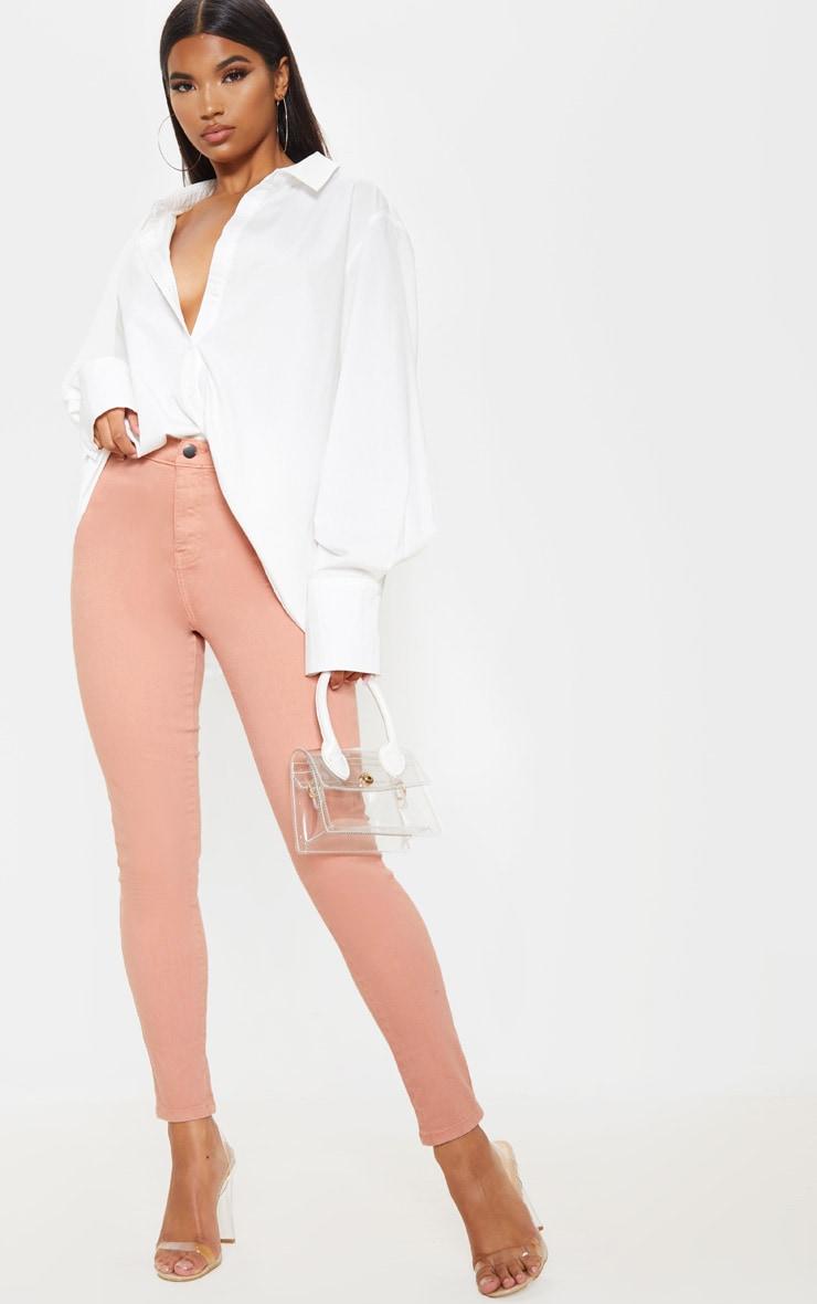Dark Rose Skinny Disco Jeans 1