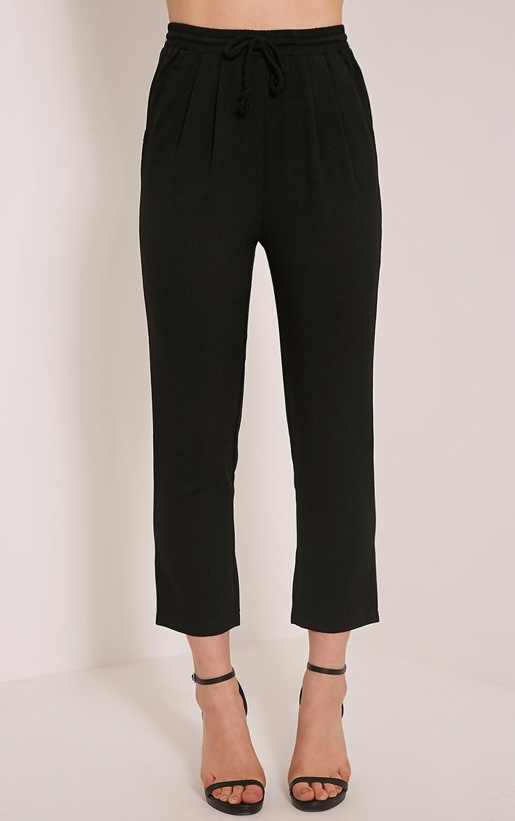 Diya Black Cropped Pants 2