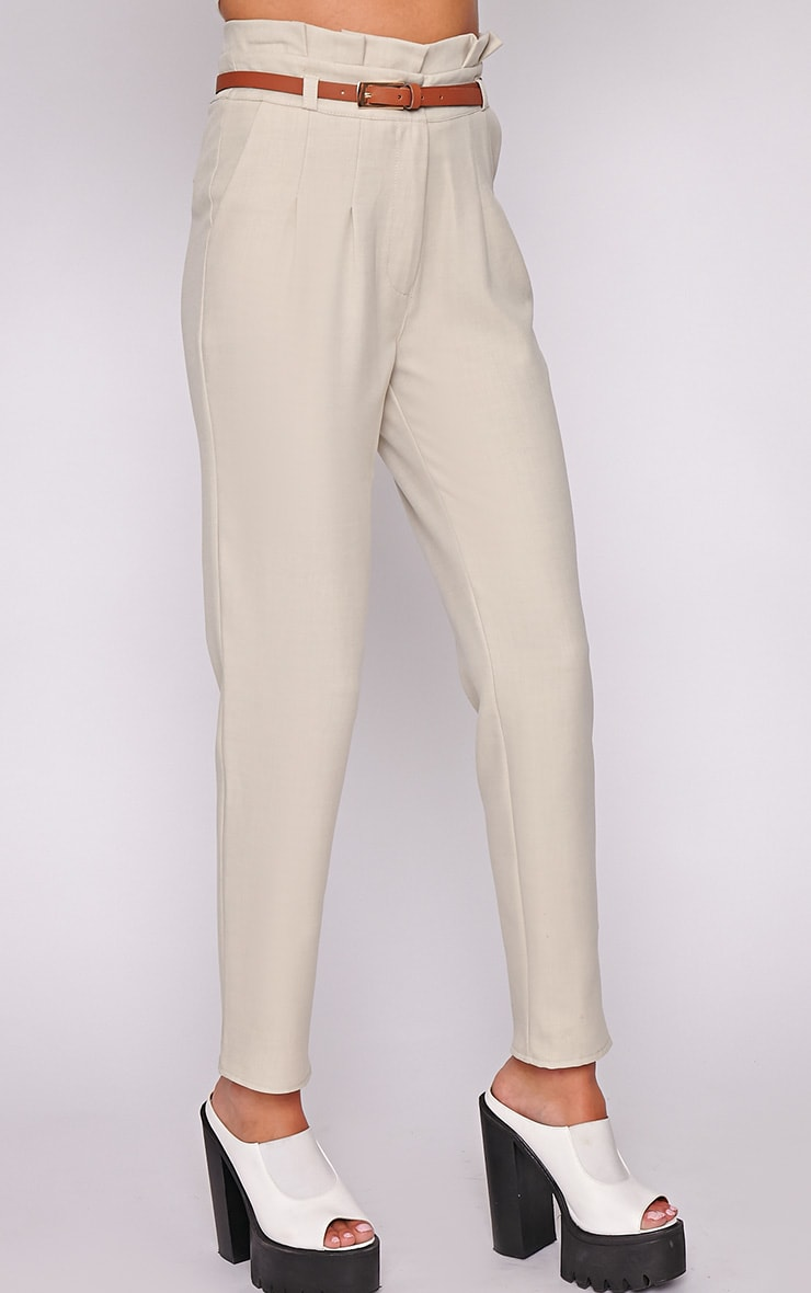 Dolly Beige Tailored Trouser  3