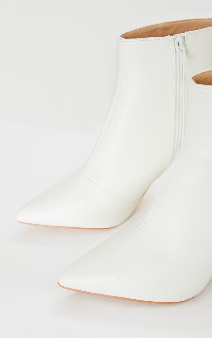 White Point Toe Half Block Heel Ankle Boot 4
