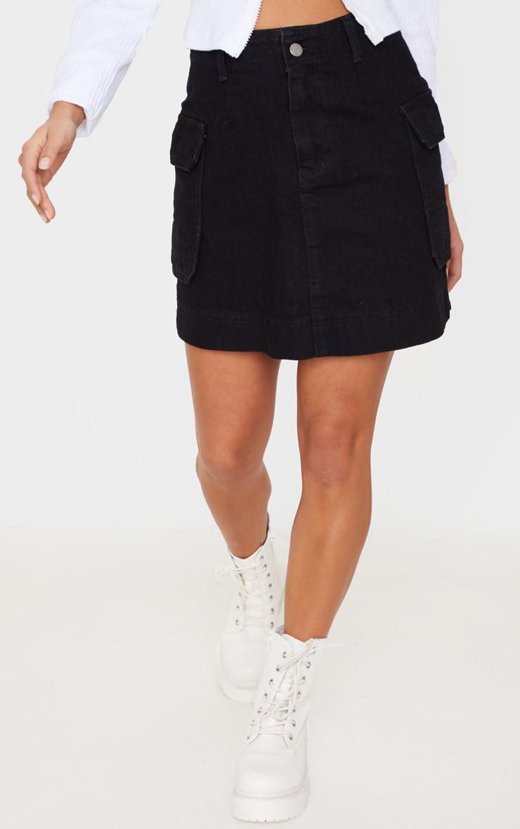 Petite Black Cargo Skirt 2