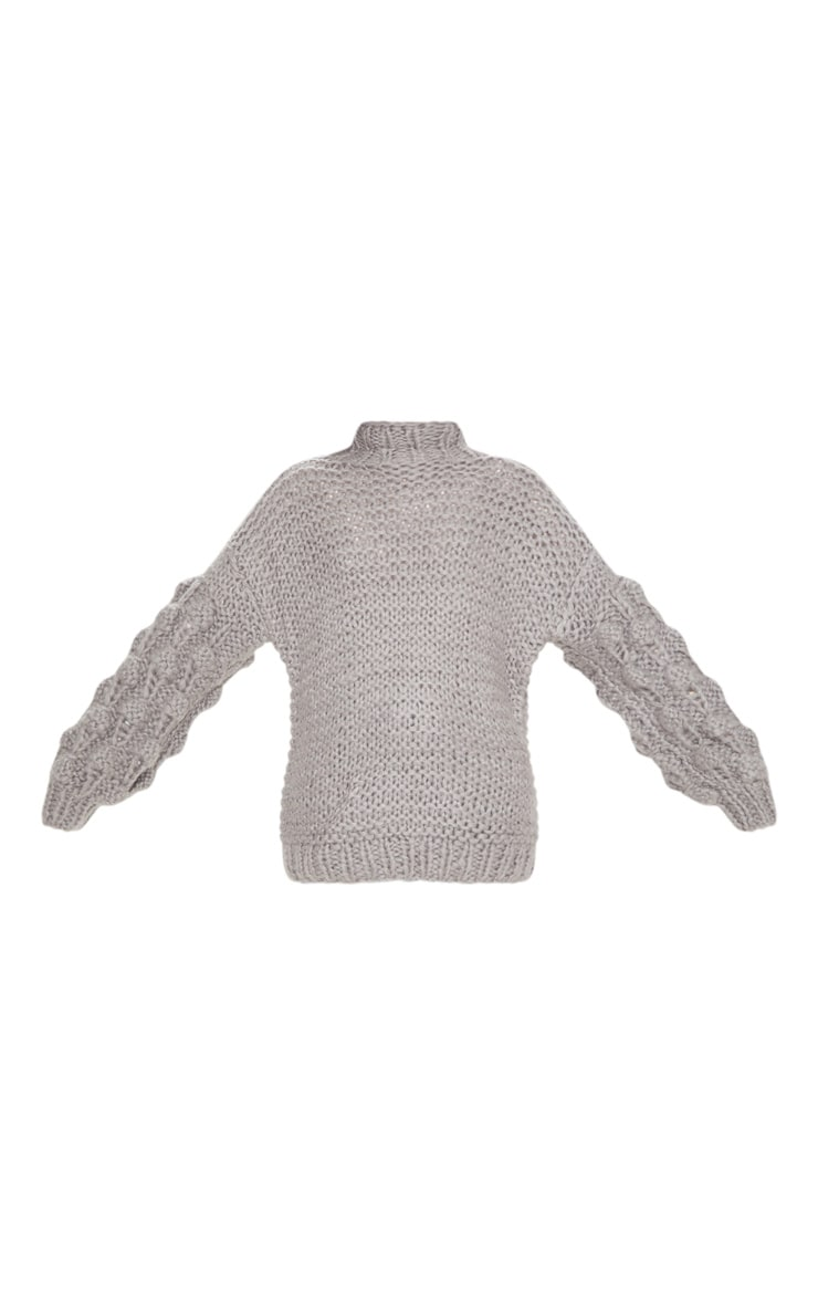 Grey Oversized Jumper Knitted 4