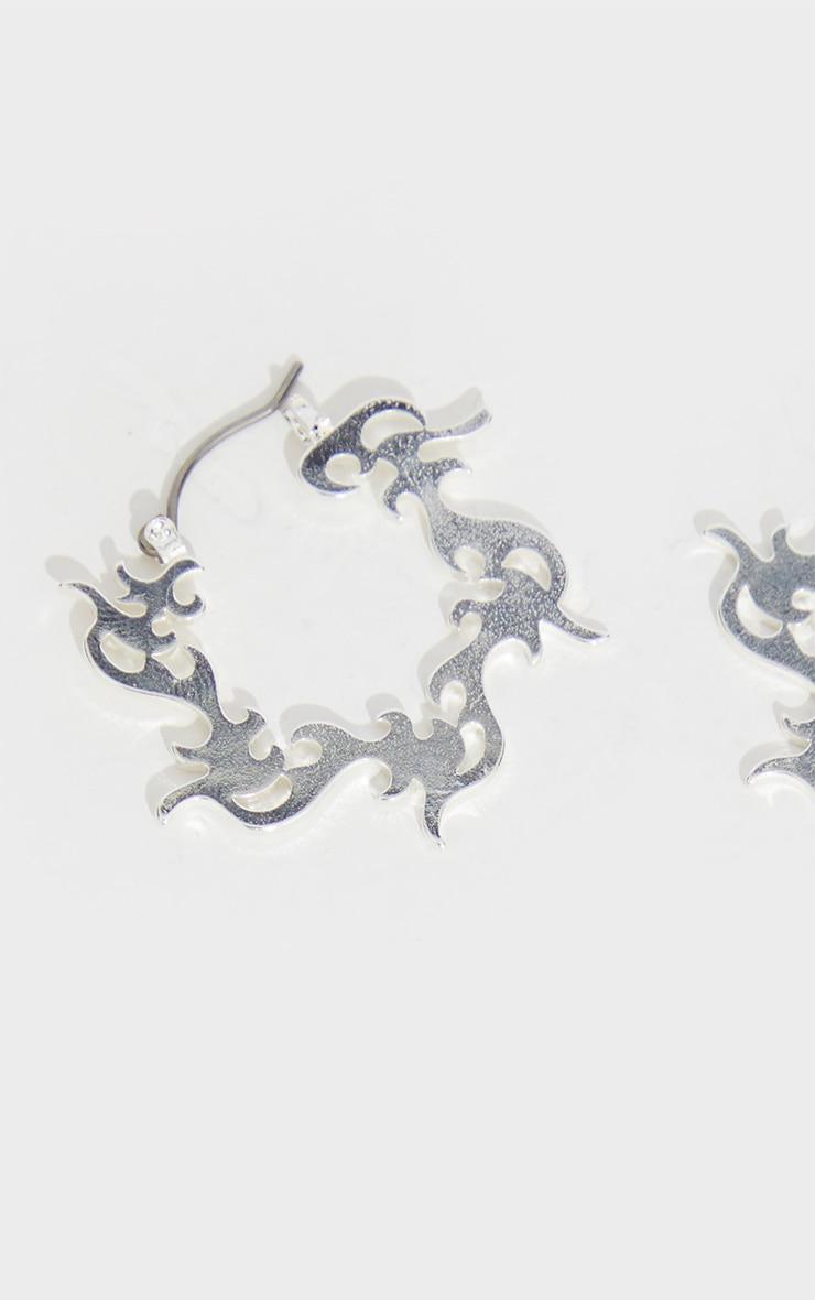 Silver Flame Earrings 2