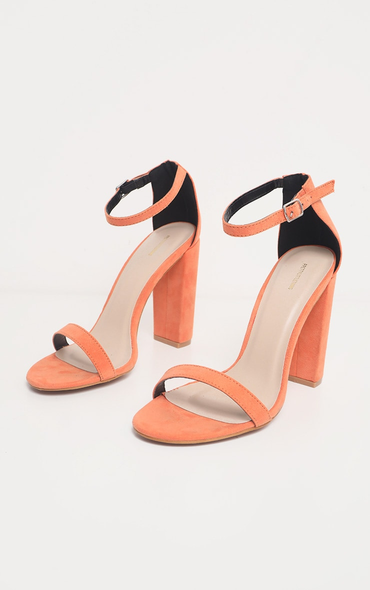 Peach May Heeled Sandal  3