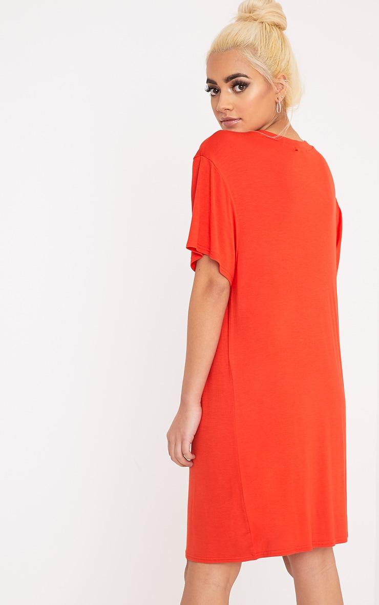 Osaka Orange Tiger T  Shirt Dress 2