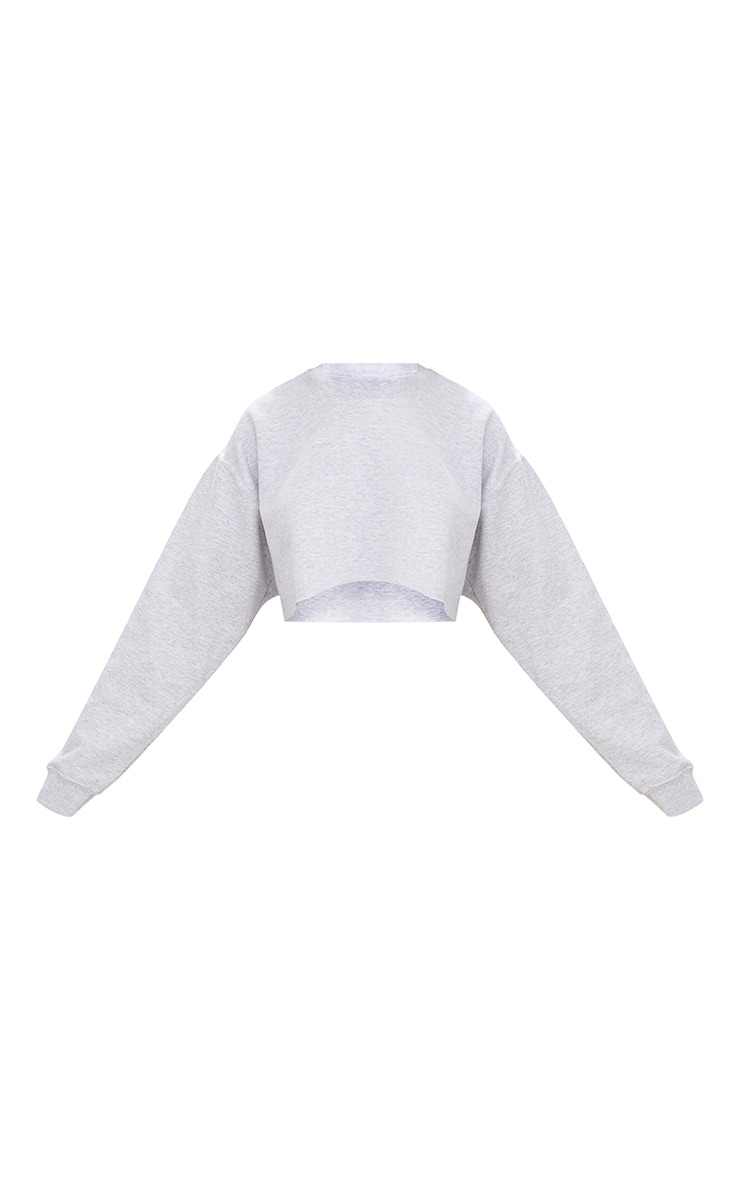 Ash Grey Ultimate Cropped Sweatshirt 3