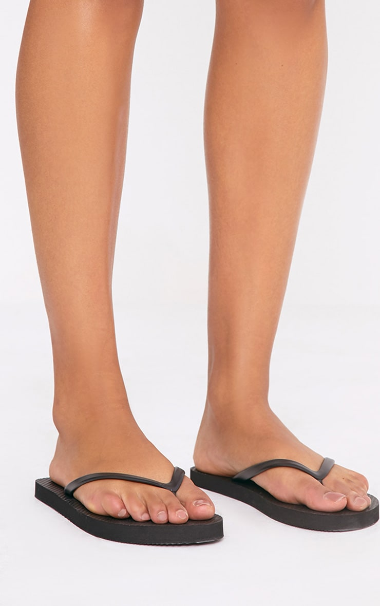 Aliza Black Flip Flops 3