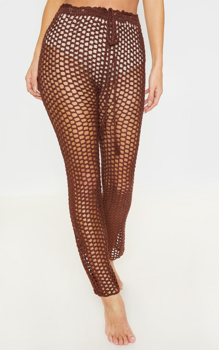 Chocolate Crochet Pants 2