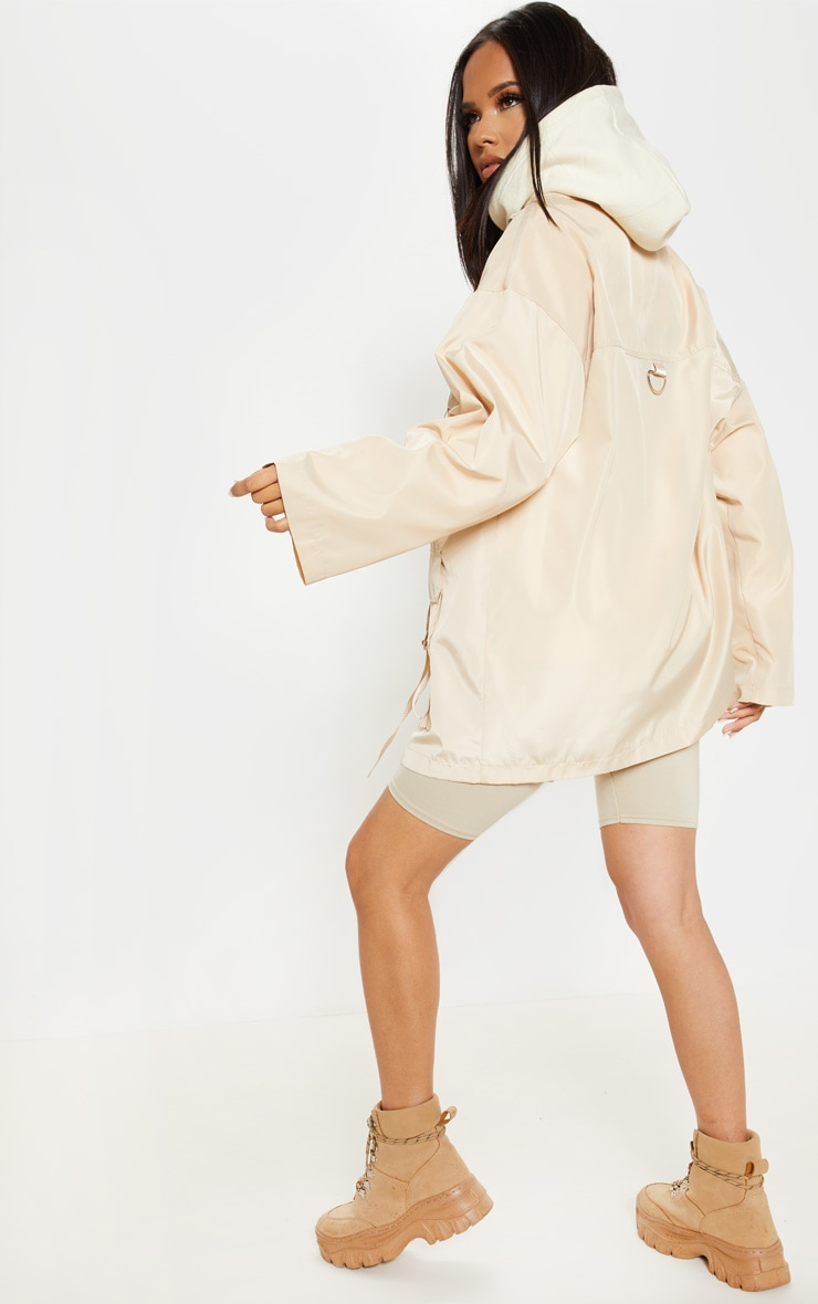Stone Pocket Detail Oversized Jacket  2