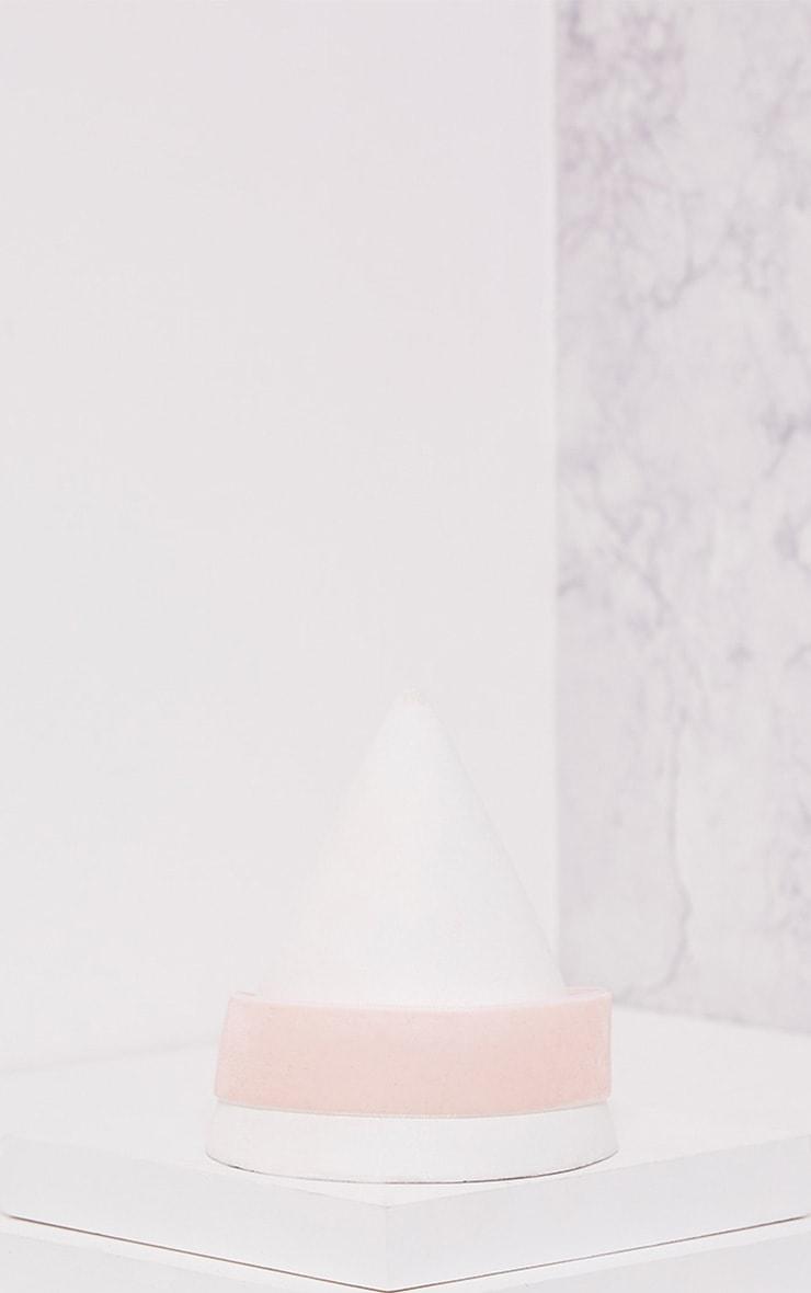 Raine Baby Pink Velvet Choker 2