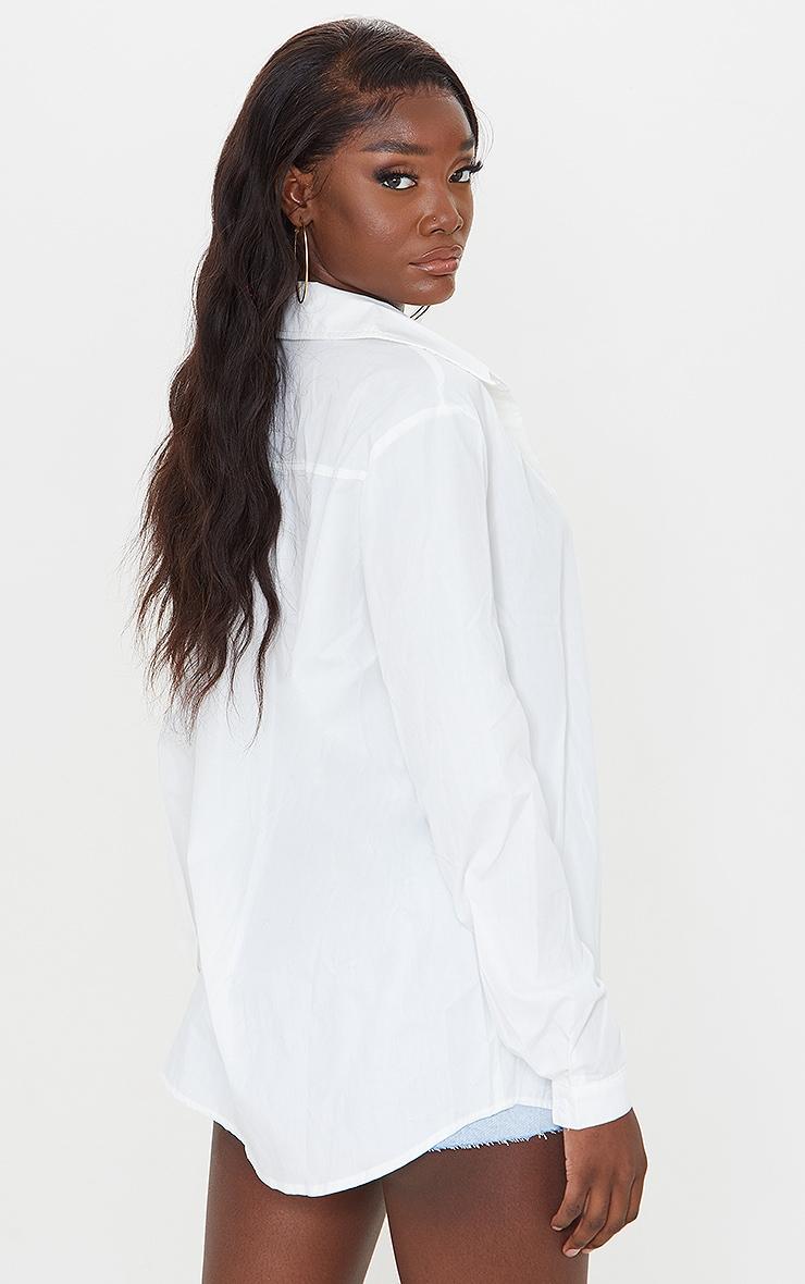 Tall White Woven Oversized Shirt 2