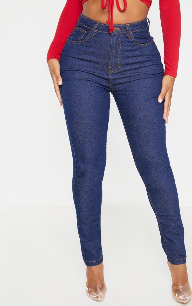 Shape Dark Indigo High Waist Skinny Jeans 2