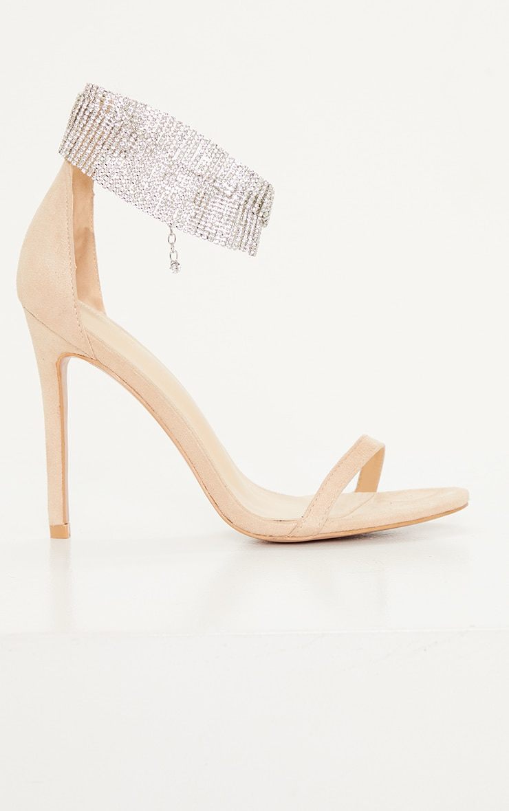 Nude Diamante Cuff Detail Heeled Sandal 3