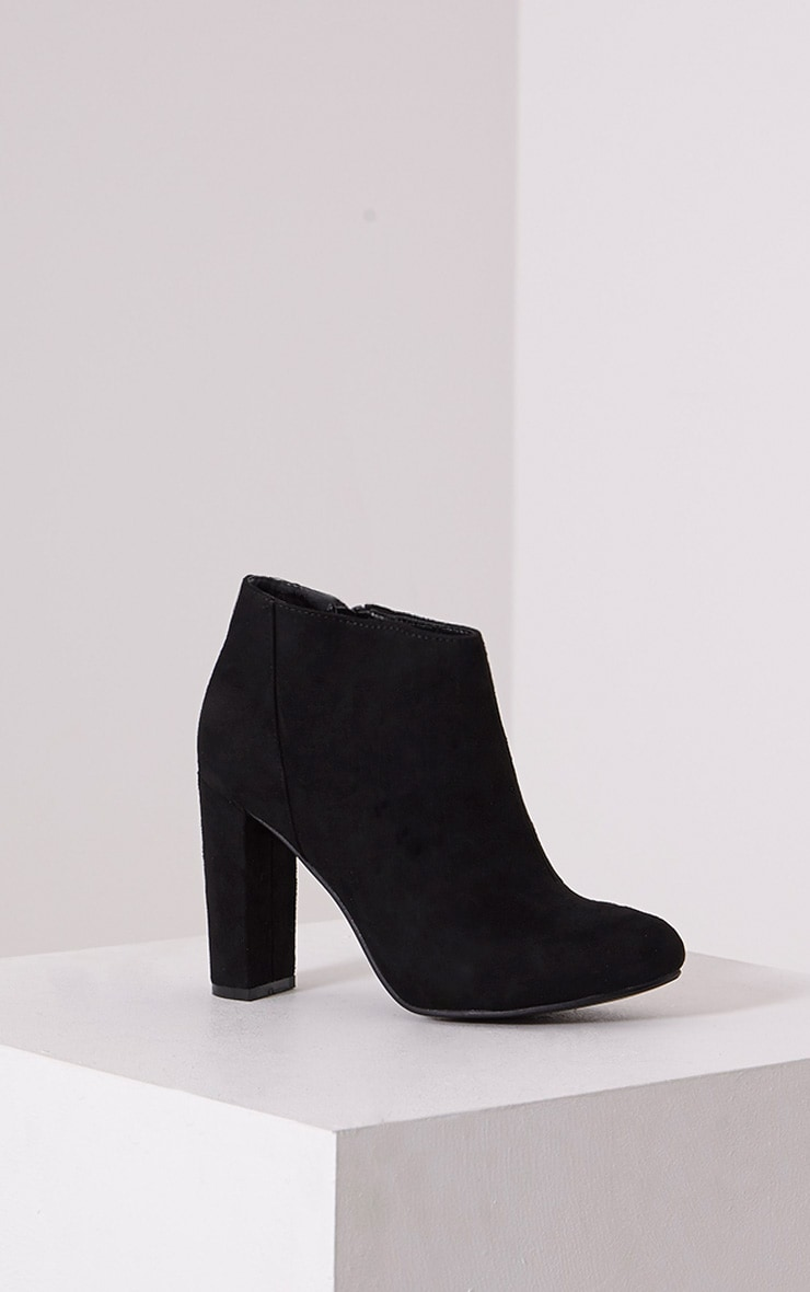 Roux Black Suede Ankle Boots 3