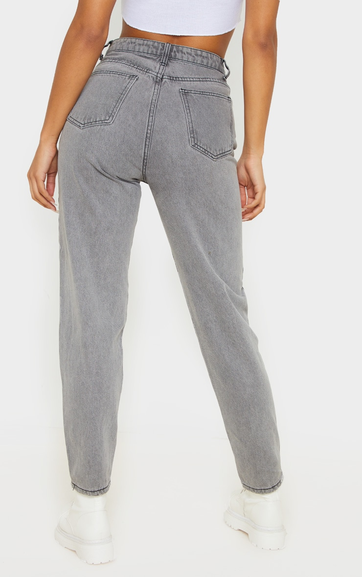PRETTYLITTLETHING Grey Mom Jean 4