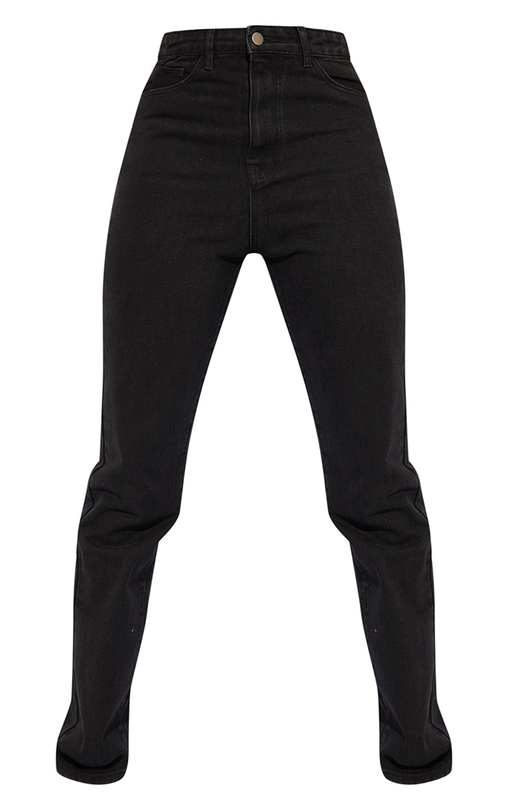 PRETTYLITTLETHING Tall Black Straight Leg Jean 5